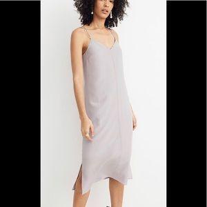 Madewell Silk Cross-Back Cami Slip Dress